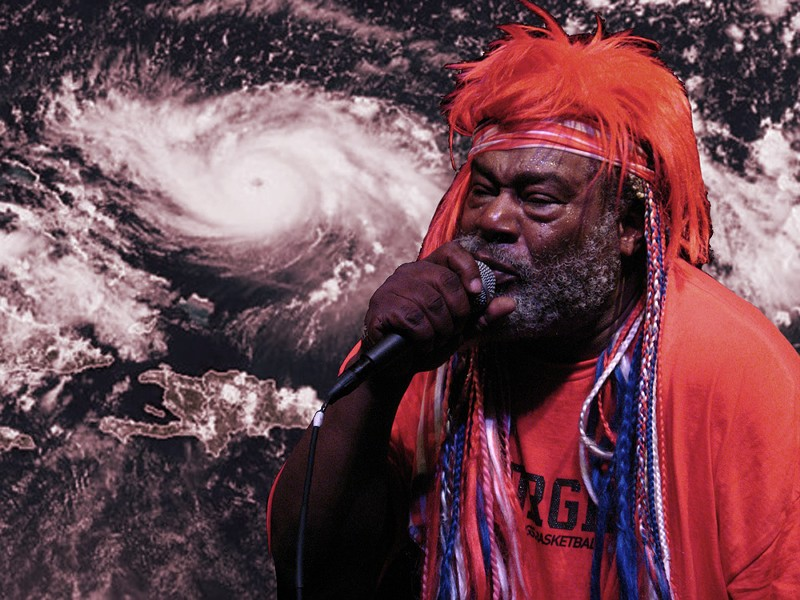 Saturday's One Nation Under a Groove / Parliament Funkadelic show at House of Blues has been canceled. - HURRICANE IMAGE VIA NOAA/RAMMB, GEORGE CLINTON BY SPECTOR1/FLICKR