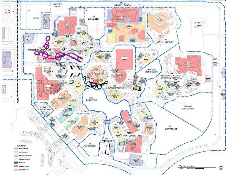 A supposed site plan for Universal Studios Beijing - IMAGE VIA REDDIT