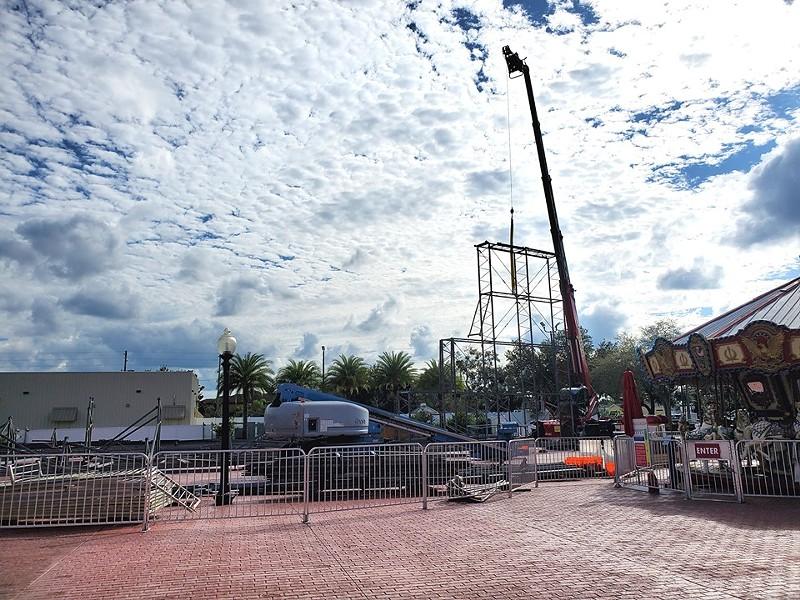 Fun Spot Kissimmee's new coaster, now under construction - IMAGE VIA FUN SPOT/FACEBOOK