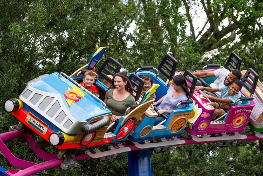Super Grover's Box Car Derby at SeaWorld Orlando and SeaWorld San Antonio - PHOTO VIA SEAWORLD ORLANDO