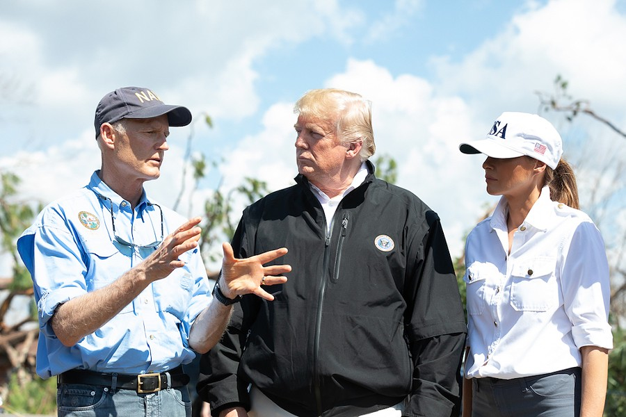 Floridians Rick Scott, Donald Trump and Melania Trump - PHOTO VIA THE WHITE HOUSE/WIKIMEDIA COMMONS