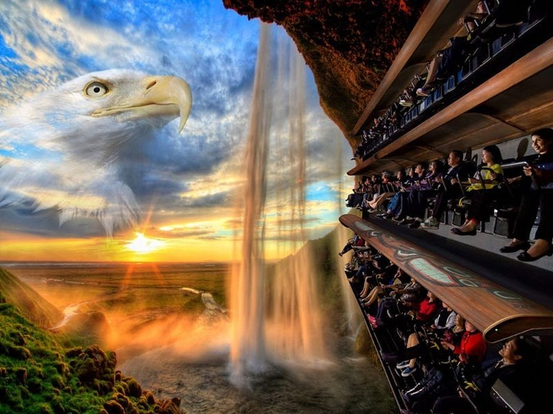 """Wings over Washington is a Dynamic Attractions """"flying theater"""" that opened in Seattle in 2016. - PHOTO VIA DYNAMIC ATTRACTIONS"""