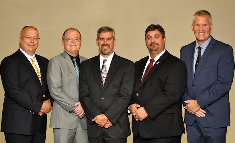 Jeff Kinnard, Ronald Kitchen, Jimmie Smith, Scott Carnahan and Brian Coleman - PHOTO VIA CITRUSBOCC.COM