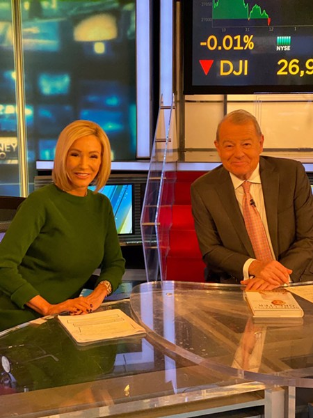 Paula White with Fox News host Fox Business Network host Stuart Varney - PHOTO VIA PAULA WHITE TWITTER