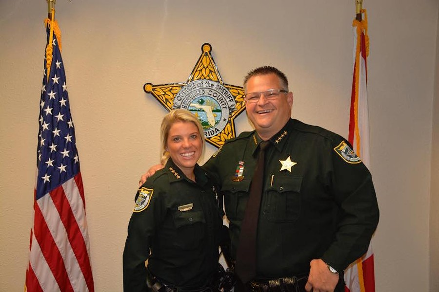 "If you don't fit in with the Evangelical motto ""In God We Trust,"" or pretend like you do, well, you can go fuck off. Brevard County Sheriff Wayne Ivey is the bro on the right. - PHOTO VIA BREVARD COUNTY SHERIFF'S OFFICE FACEBOOK"