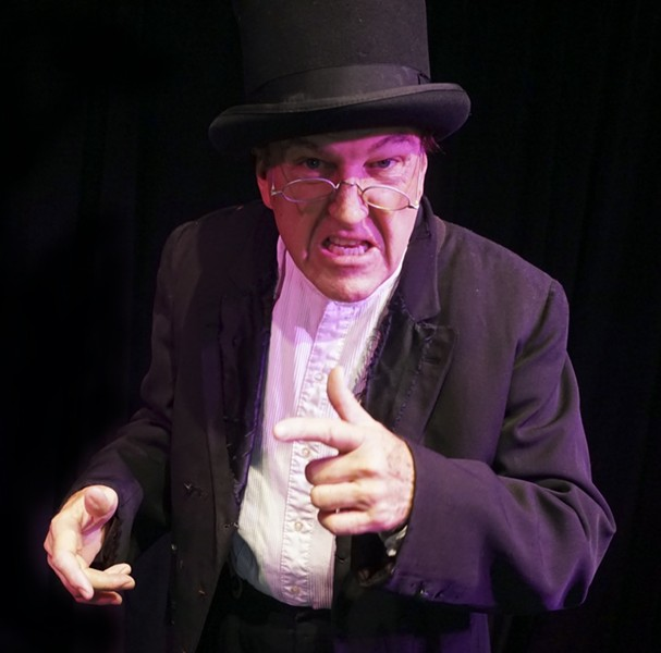 David McElroy as Ebenezer Scrooge - PHOTO COURTESY PENGUIN POINT PRODUCTIONS