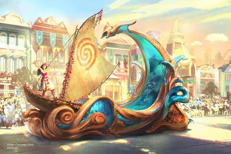 Concept art for a float featured in Disneyland's upcoming Magic Happens parade - IMAGE VIA DISNEY