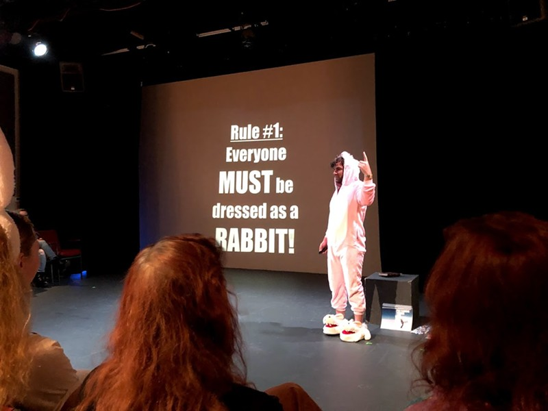 "Jon Bennett performs ""It's Rabbit Night!"" on opening night of the 2020 Orlando Fringe Winter Mini-Fest, which continues through Jan. 12. - PHOTO BY SETH KUBERSKY"