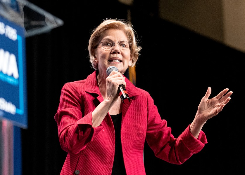 Sen. Elizabeth Warren speaks at the 2019 Iowa Democrats Hall of Fame Celebration - PHOTO BY LORIE SHAULL/WIKIMEDIA COMMONS