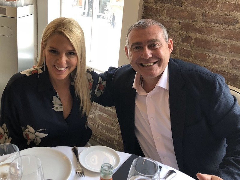 Pam Bondi with Lev Parnas, in a photo released by Parnas' lawyer - PHOTO VIA JOSEPH A. BONDY/TWITTER