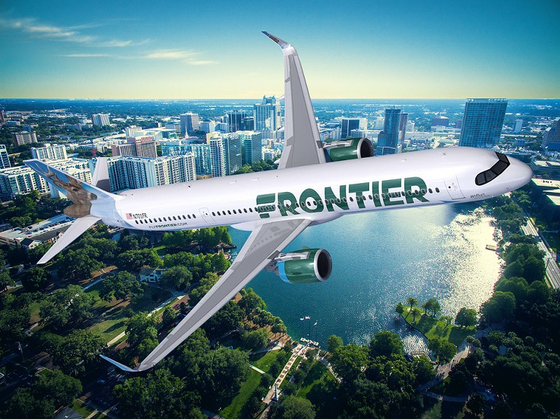 PHOTOS VIA FRONTIER AIRLINES AND ADOBE STOCK