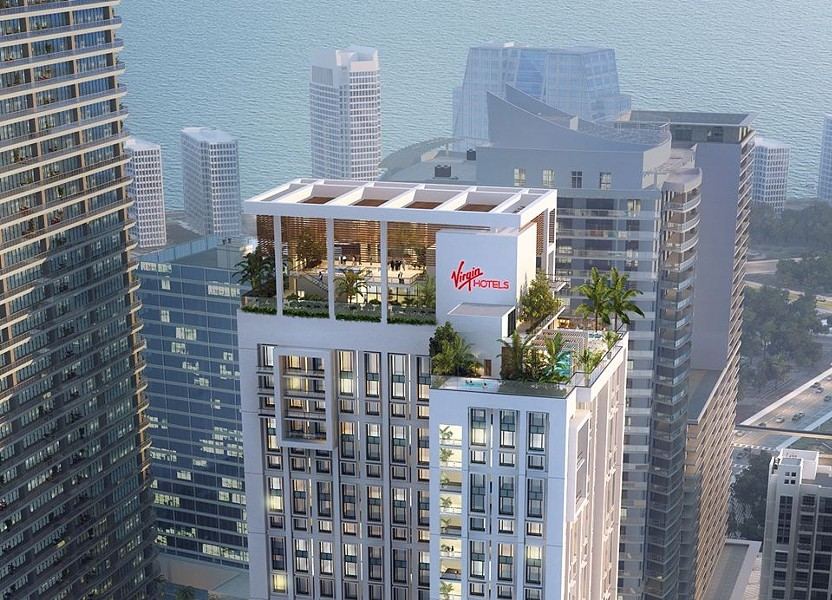 Virgin Hotels Miami concept art - IMAGE VIA VIRGIN ATLANTIC | FACEBOOK