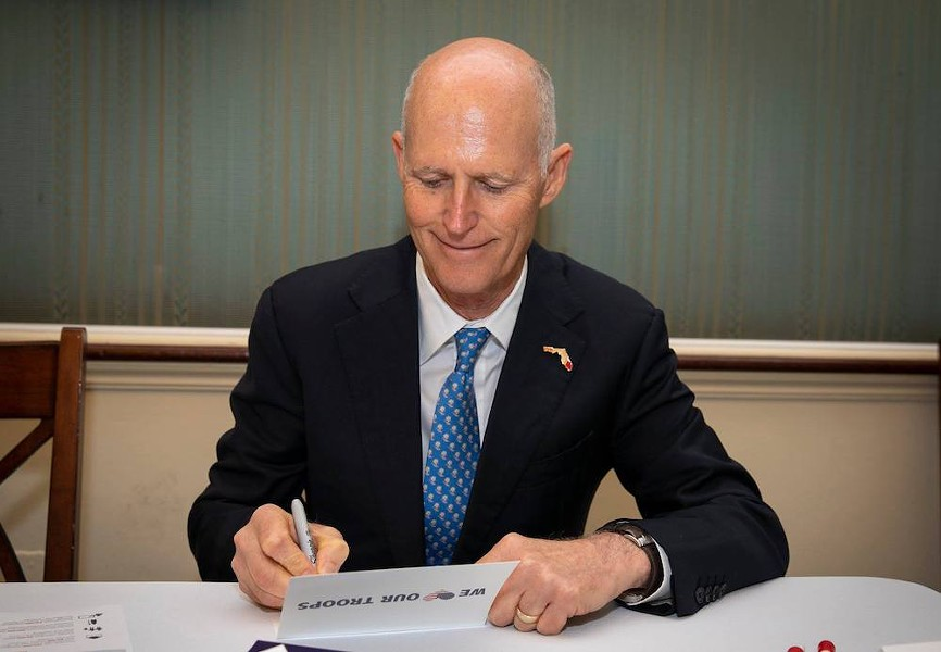 Former Florida governor Sen. Rick Scott - PHOTO VIA RICK SCOTT/TWITTER