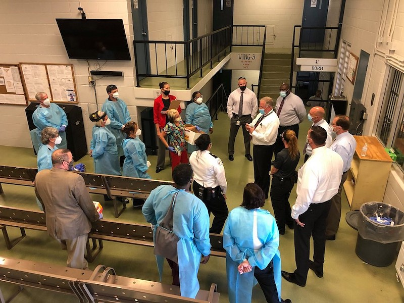 May 15 prison visit by Florida Department of Corrections Secretary Mark S. Inch - PHOTO VIA FLORIDA DEPARTMENT OF CORRECTIONS/FACEBOOK