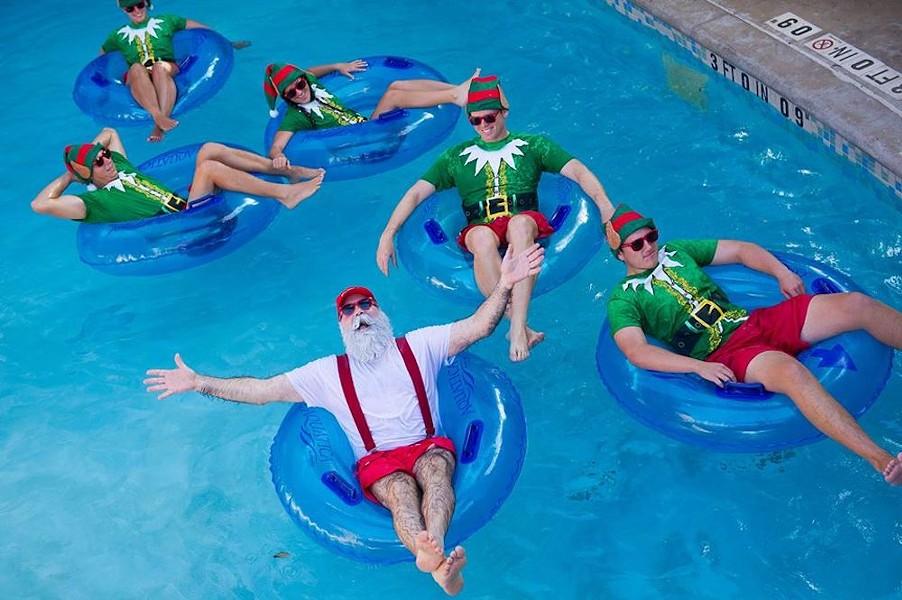 So help me God, if you monsters infect Santa ... - PHOTO VIA AQUATICA ORLANDO/FACEBOOK