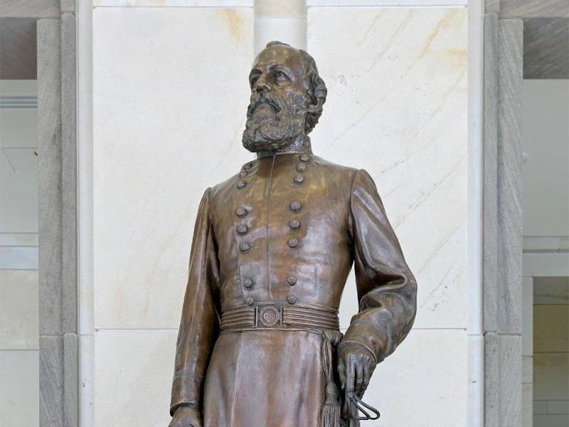 The bronze statue of Confederate Gen. Edmund Kirby Smith - PHOTO VIA NEWS SERVICE OF FLORIDA
