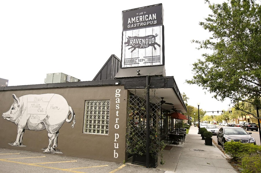 The restaurant's original space at 1234 N. Orange Avenue in Winter Park, now occupied by Reel Fish Coastal Kitchen + Bar. - IMAGE COURTESY OF THE RAVENOUS PIG