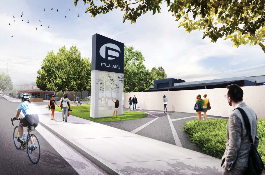 A rendering of the Pulse interim memorial - PHOTO VIA ONEPULSE FOUNDATION