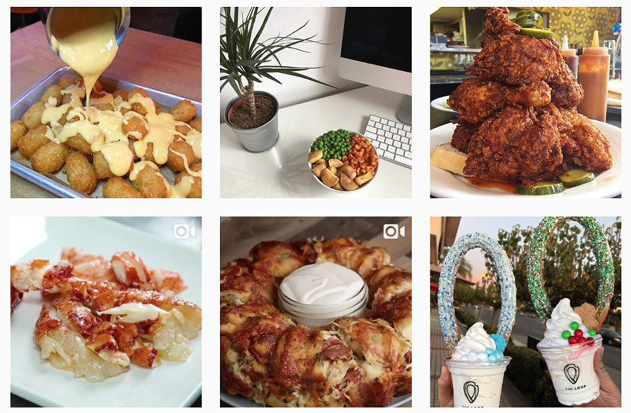 Hashtag #foodporn, 3:47 p.m. Wednesday, Dec. 27, 2017 - IMAGE COLLAGE SCREENGRABBED VIA INSTAGRAM SEARCH
