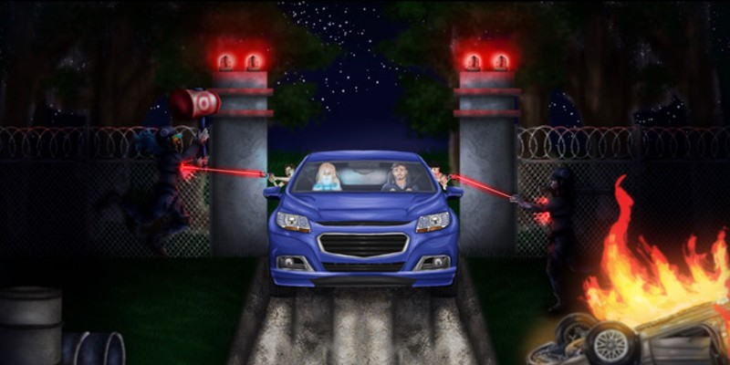 Concept art for 2021 Horror drive-thru adventure