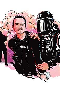 Aaron Cantu arrest (illustration by Anson Stevens Bollen)