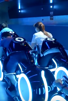 TRON coaster at Shanghai Disneyland