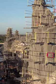 Here's some sweet drone footage of scaffolding at Disney's Star Wars: Galaxy's Edge