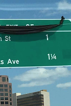 The new sign for the 'Princenton' exit on I-4 is perfectly fine