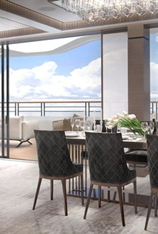 Penthouse suite onboard a Ritz-Carlton Yacht Collection ship