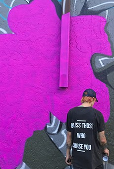 Halsi at work in Wynwood, Miami