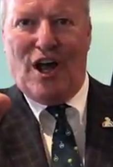 "Here's Orlando Mayor Buddy Dyer's gigantic UCF ""national champions"" ring"