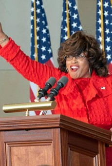 Corrine Brown is arguing a juror was improperly removed for saying the 'Holy Spirit' told him she wasn't guilty