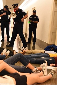 "A recent ""die in"" at Speaker Paul Ryan's office in Washington, D.C."
