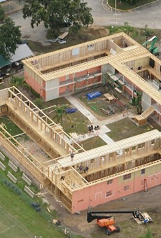 Aerial shot of a set being built in Orlando for a new series on Oprah Winfrey's TV network