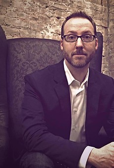 Aaron Mahnke of podcasts 'Lore' and 'Cabinet of Curiosities' signs his new book at Barnes & Noble