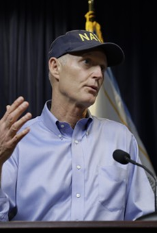 Group spends $4 million on television ad ripping on Rick Scott's Navy hat