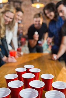 Downtown World of Beer holds the ultimate drinking game competition at Lake Eola Oktobeerfest