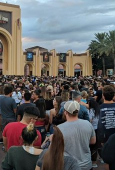 Massive crowds wait to enter Halloween Horror Nights 28 at Universal Studios Florida