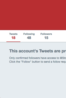 Stockton Reeves still has his Twitter locked for some reason