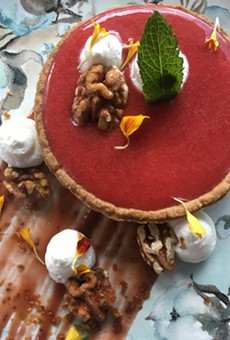 Cranberry-orange tart offered for Thanksgiving dessert at Tapa Toro.