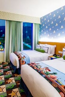 A typical room in the Toy Story Hotel at Shanghai Disneyland