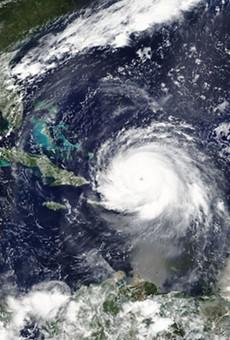 Hurricanes Irma, Jose and Katia in the Carribean Sea and the Atlantic Ocean