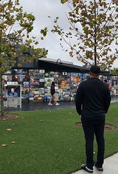 Tyler Perry stopped by the Pulse memorial before Amway Center performance