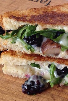 Toasted's blackberry melt, with fontina, arugula and fresh berries