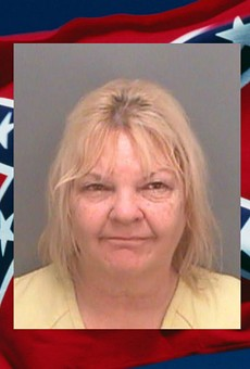 A Florida woman beat up her husband for not taking down his Confederate flag