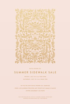 Rifle Paper Co. sidewalk sale boasts pretty paper and popsicles Friday-Saturday