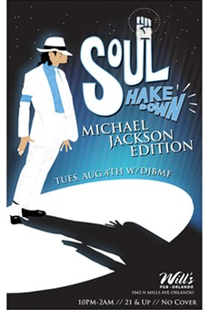 DJ BMF pays tribute to the King of Pop during a special edition of Soul Shakedown at Will's Pub
