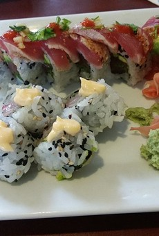 Yellowtail roll and big kahuna roll at Oudom's Mount Dora location