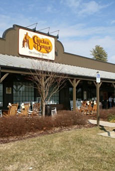 A gun fell out of a man's holster and shot a guy at a Sanford Cracker Barrel