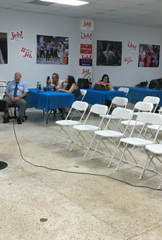 This is what the Jeb Bush watch party looked like in Miami